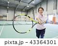 テニス 室内テニス 女性の写真 43364301