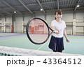 テニス 室内テニス 女性の写真 43364512