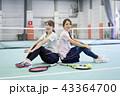 テニス 室内テニス テニスコートの写真 43364700