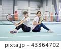 テニス 室内テニス テニスコートの写真 43364702
