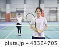 テニス 女性 43364705