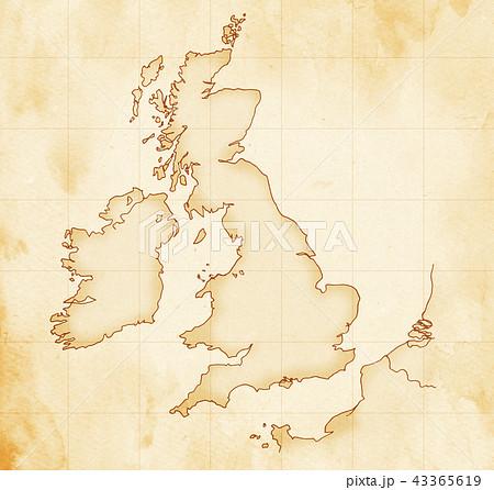 手描き 地図 古地図 テクスチャー 43365619
