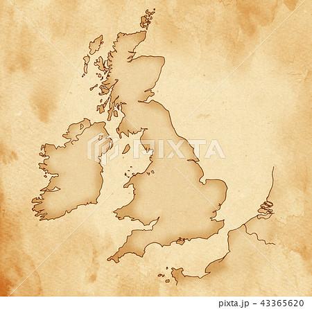 手描き 地図 古地図 テクスチャー 43365620