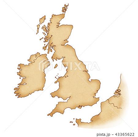 手描き 地図 古地図 テクスチャー 43365622