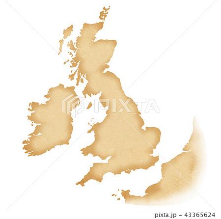 手描き 地図 古地図 テクスチャー 43365624