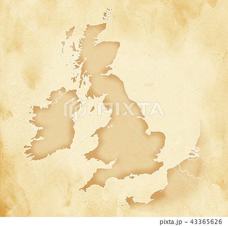 手描き 地図 古地図 テクスチャー 43365626