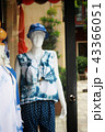 woman clothes model in front of the clothes shop 43366051