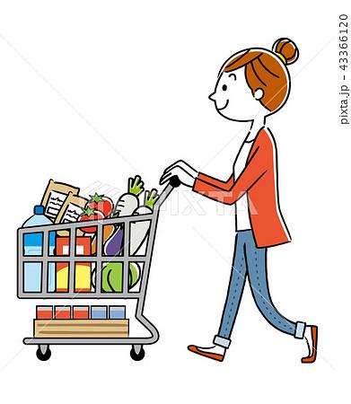 女性:買い物、ライフスタイル 43366120