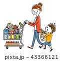 親子:スーパーマーケット、買い物、ライフスタイル 43366121