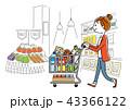 女性:スーパーマーケット、買い物、ライフスタイル 43366122
