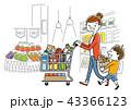 ベクター スーパーマーケット 買い物のイラスト 43366123