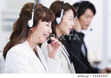 オペレーター コールセンター テレアポ ビジネス パソコン チーム 43369307