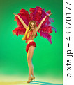 young beautiful dancer posing on studio background 43370177