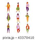 ファッション 流行 女性のイラスト 43370410