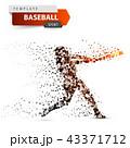 ベースボール 白球 野球のイラスト 43371712