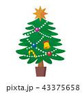 クリスマスツリー クリスマス 飾りのイラスト 43375658