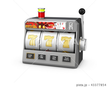 Slot machine with jackpot, Casino concept, 3d Illustration 43377854