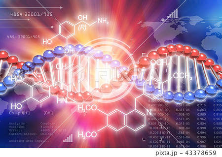 DNA genetic research science concept 43378659
