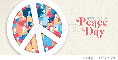 International Peace Day banner for people freedom 43379174