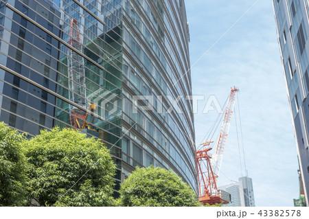 再開発工事中の渋谷駅街区超高層ビル最大級の商業施設空高くそびえ建つ新ランドマーク 43382578