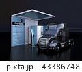 水素ステーション 充填 トラックのイラスト 43386748