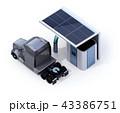 水素ステーション 充填 トラックのイラスト 43386751