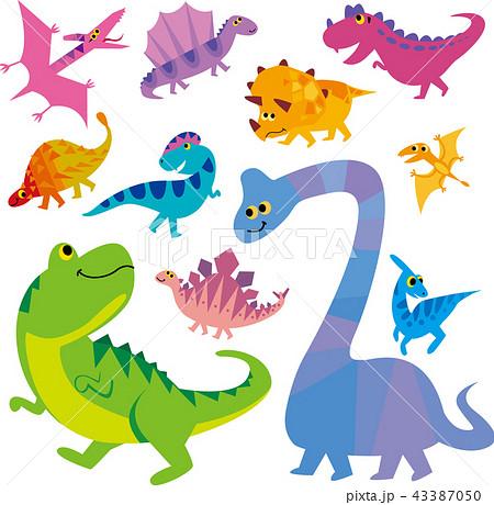 恐竜キャラクターのイラスト素材 43387050 Pixta