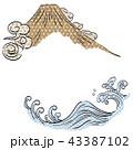 ふじ フジ 富士のイラスト 43387102