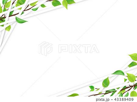 新緑 ライン フレーム (PNG、切り抜き素材) 43389409