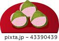 桜餅 道明寺 和菓子のイラスト 43390439