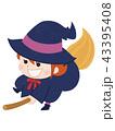 魔女 ハロウィン 仮装のイラスト 43395408
