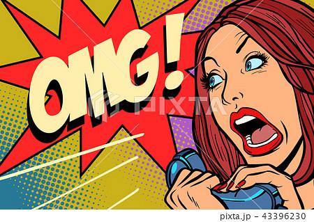 OMG Woman screams in phone 43396230