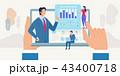 通信 概念 ネットワークのイラスト 43400718