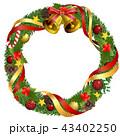 クリスマスリース クリスマス リースのイラスト 43402250