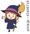 魔女 ハロウィン 仮装のイラスト 43406719