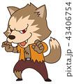 狼男 ハロウィン ハロウィーンのイラスト 43406754