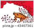 年賀状 亥 花札のイラスト 43407361