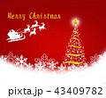 クリスマス クリスマスツリー 雪の結晶のイラスト 43409782
