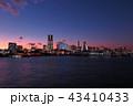 みなとみらい 夕景 横浜港の写真 43410433