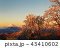富士山 樹氷 朝焼けの写真 43410602