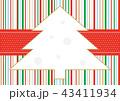 クリスマス クリスマスツリー ツリーのイラスト 43411934