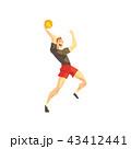 スポーツ バスケ バスケットボールのイラスト 43412441