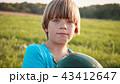 子 子供 すいかの写真 43412647