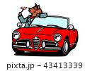 亥 赤 オープンカーのイラスト 43413339