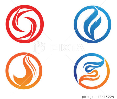 fire flame nature logo and symbols icons templateのイラスト素材