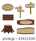 看板 立て看板 木製のイラスト 43421430