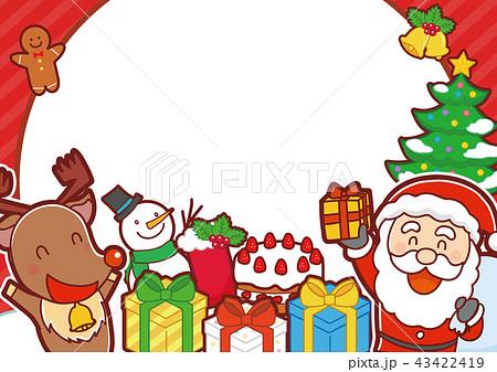 イラスト素材: クリスマス メッセージ素材 イラスト 43422419