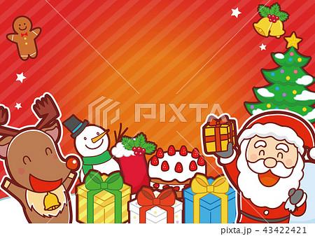 イラスト素材: クリスマス メッセージ素材 イラスト 43422421