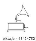 ミュージック 音楽 アイコンのイラスト 43424752