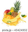 ジュース ぱいなっぷる パイナップルのイラスト 43424932